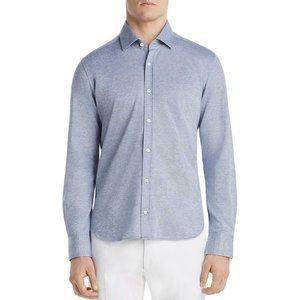 Dylan Gray Mens Blue Cotton Long Sleeve Pique Butt